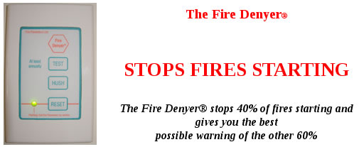 fire denyer or fire denier. prevent kitchen fire. protect lives and property