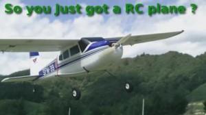 so yo just got a RC plane