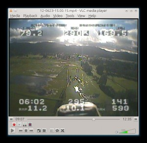 fpv image with osd overlay