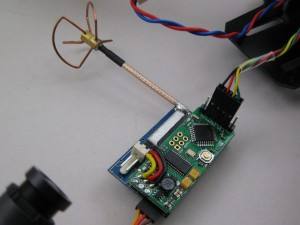 fpv transmitter with antenna and osd