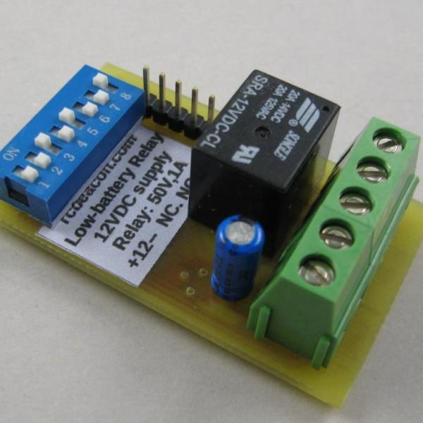 12V low-voltage detector relay