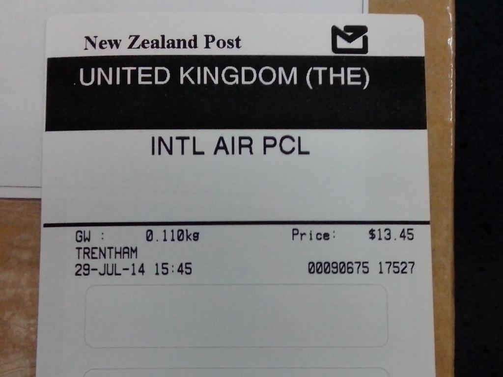 NZ Post international-air label