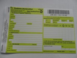 nz post customs form